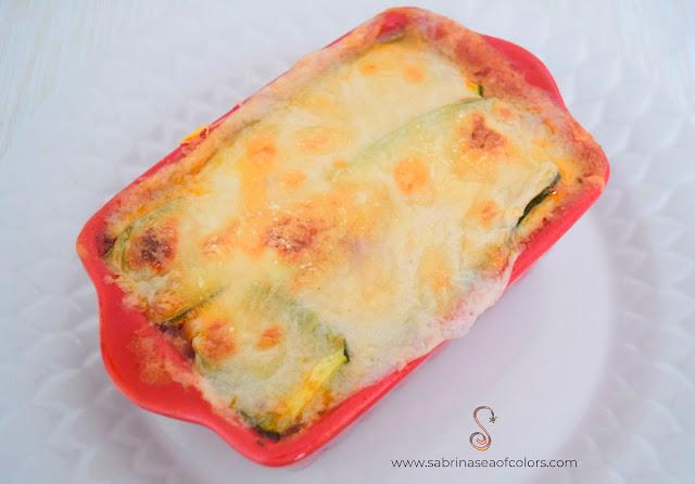 Lasaña de calabacín o zucchini