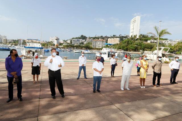REINICIAN ACTIVIDADES PRESTADORES DE SERVICIOS NÁUTICOS DE ACAPULCO