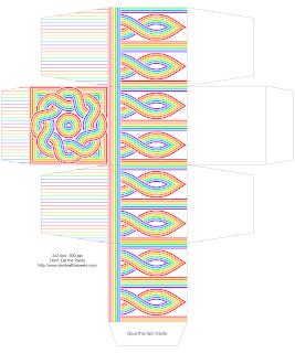 Printable rainbow boxes in 2 sizes- print on card stock and make. #Papercrafts #GiftBoxes