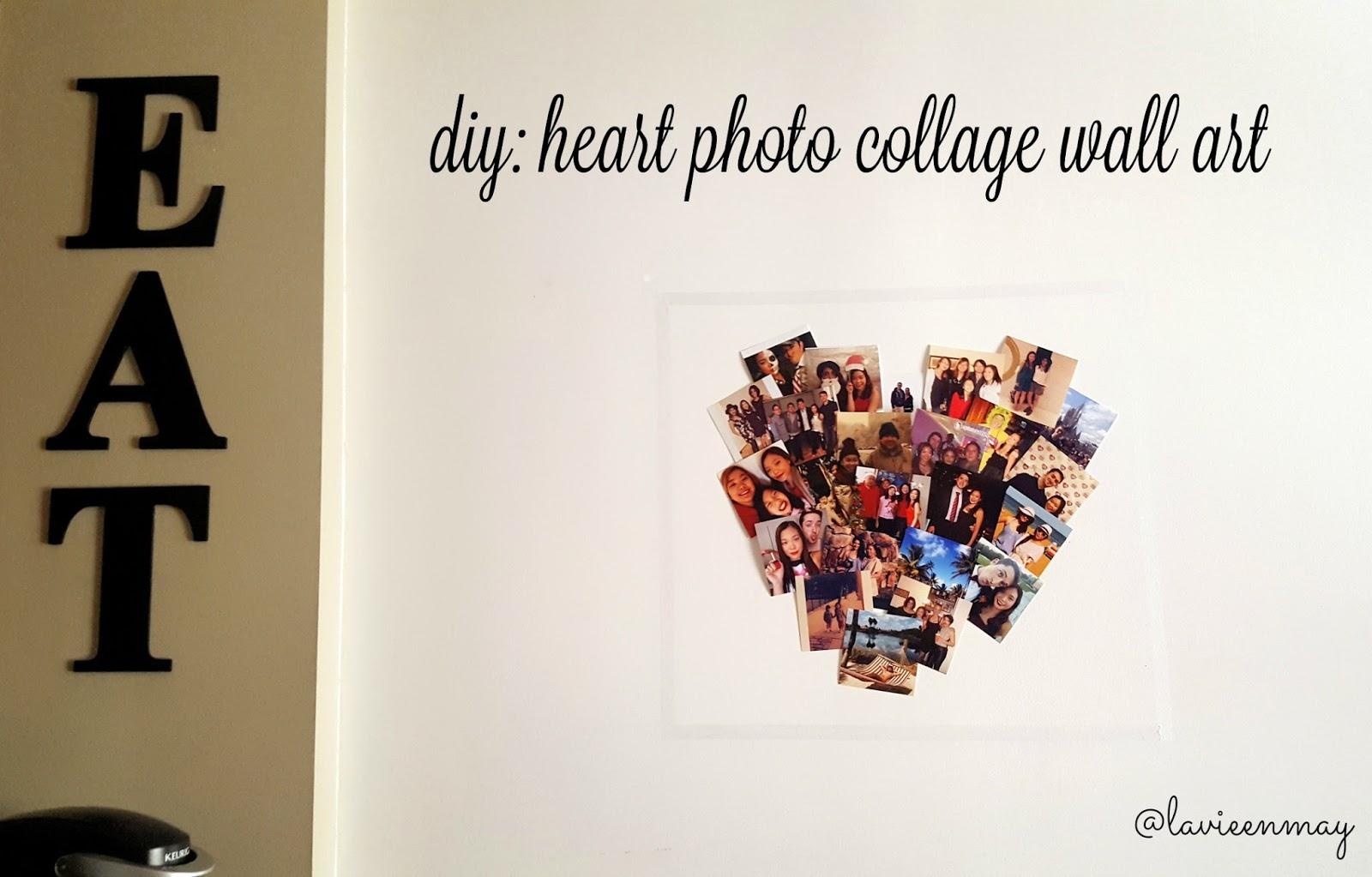 Diy Heart Photo Collage Wall Art La Vie En May Petite