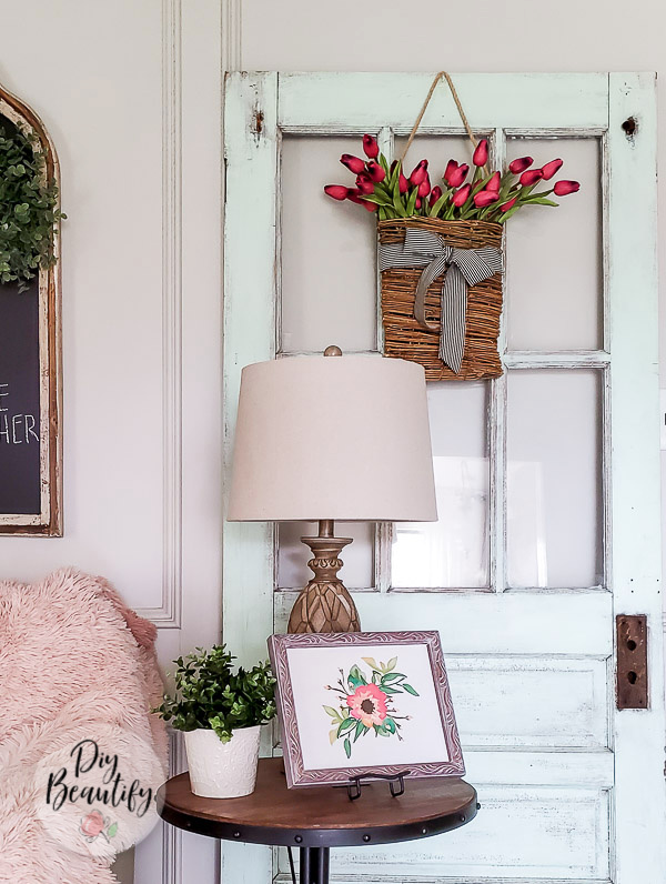 vintage door and farmhouse decor