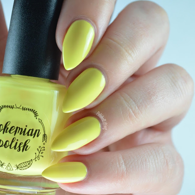 yellow neon nail polish
