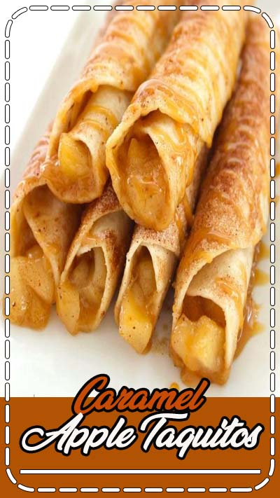 These Caramel Apple Taquitos will make for a perfect dessert this fall. Super simple flour tortillas loaded with apple pie filling, cinnamon sugar, and caramel. Caramel Apple Taquitos I have shared a