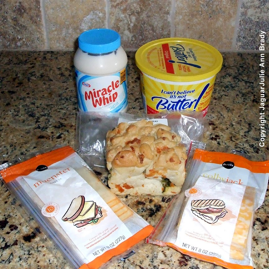 ingredients for spicy grilled cheese sandwich