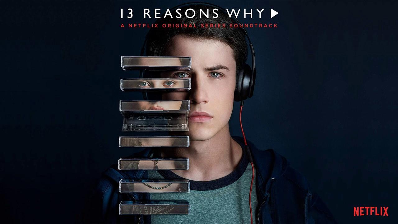 Poster promocional de 13 Reasons Why en el que aparecen los personajes de Clay y Hannah