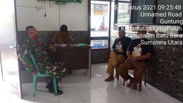 Komsos Dengan Toko Masyarakat Dan Kepala Dusun Dilakukan Personel Jajaran Kodim 0208/Asahan