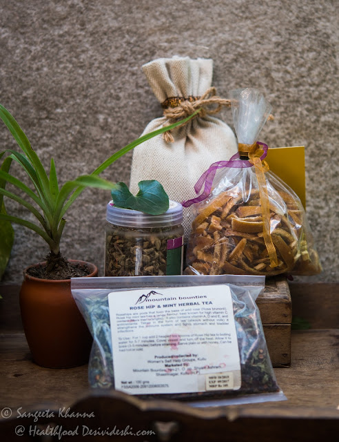 herbs and tea blends
