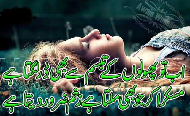 love status for whatsapp 2017 poetry in urdu ab to pholon ke tabasum se bhi dar lagta hai