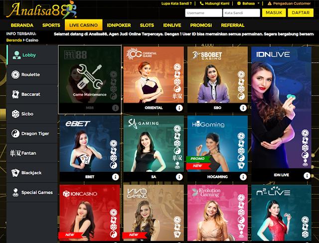 Daftar Judi Casino Online Terbaik Dan Terpercaya Analisa88