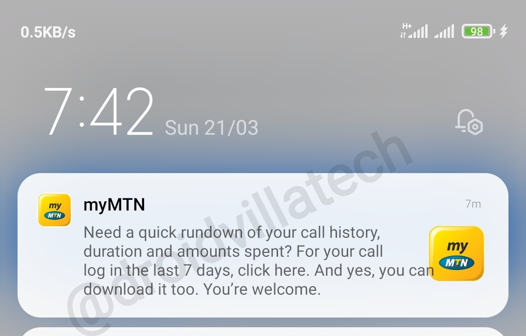 check-mtn-call-history-duration-and-amount-spent-up-to-7-days-using-mymtnapp-droidvilla-tech-1-android-tech-blog