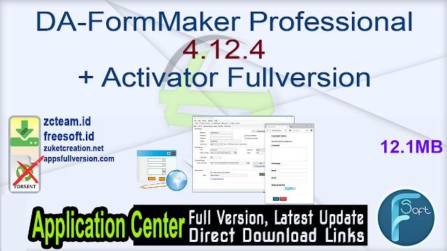 DA-FormMaker Professional 4.12.4 + Activator Fullversion