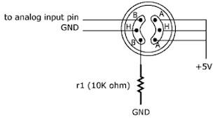 Rangkaian Dasar Sensor MQ-7