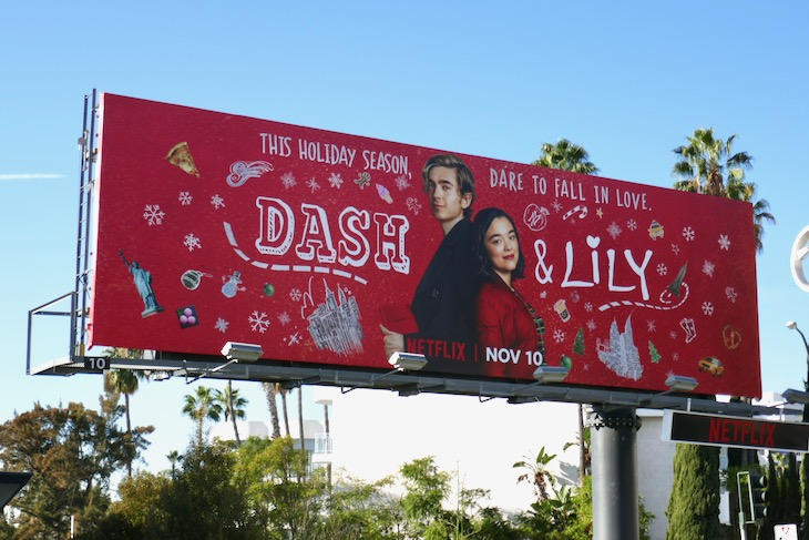 Dash and Lily series launch billboard