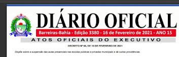 Prefeitura de Barreiras edita novo decreto nesta segunda-feira(16)