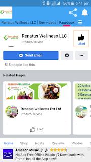 Renatus wellness facebook page in renatus app