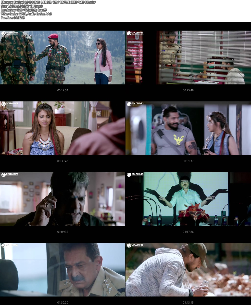 Hebbuli 2018 HINDI DUBBED 720p UNTOUCHED WEBHD | 480p 400MB | 200MB HEVC Screenshot