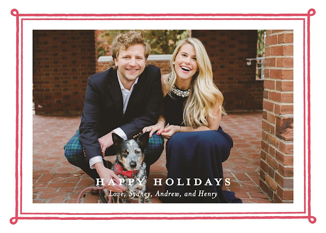 minted framed photo leterpress holiday card