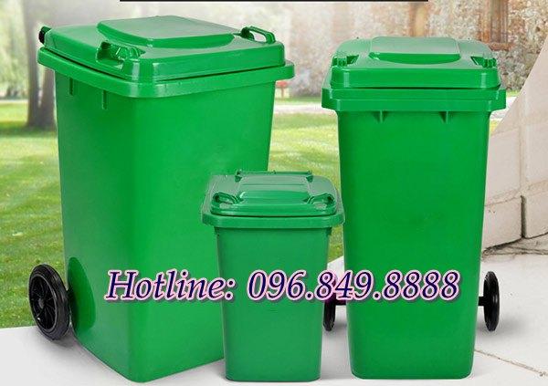 Thùng rác nhựa HDPE sở hữu nhiều dung tích đa dạng