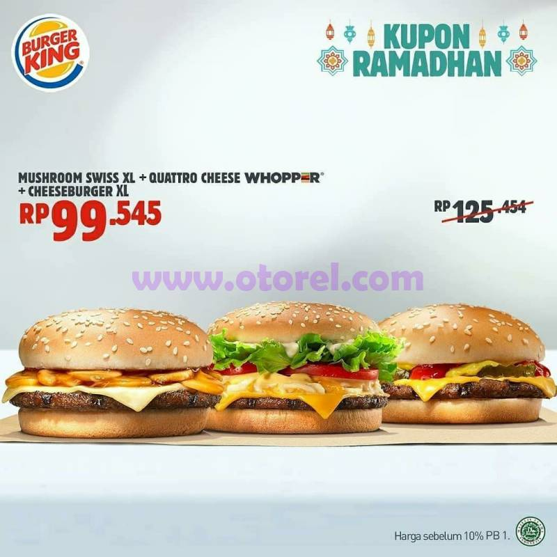 Promo Burger King Terbaru Kupon Hemat Periode Mei 2018