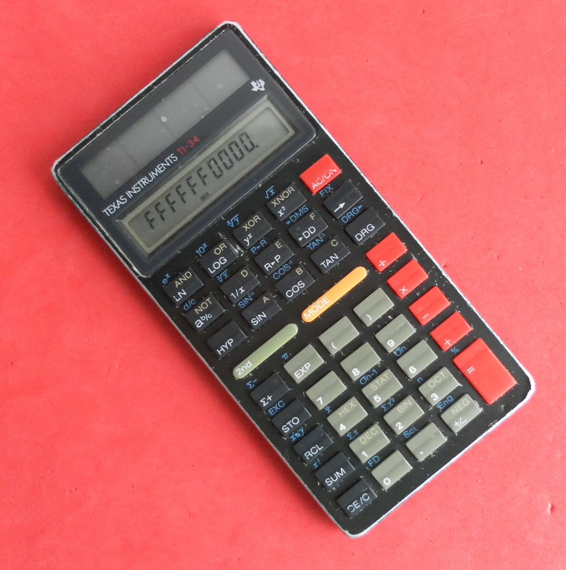 Cyanolit Plastic Hp Forums Texas Ti 34 Solar Scientific Calculator From 1987