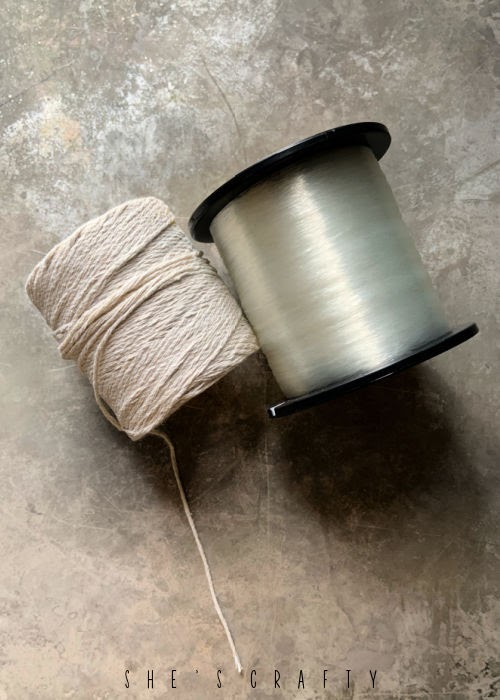 Twine and Fishing Line must have supplies for Holiday Decorating