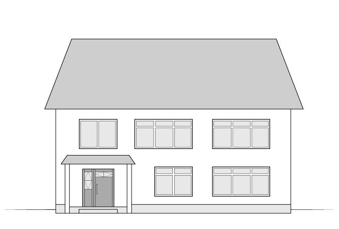 Menggambar rumah