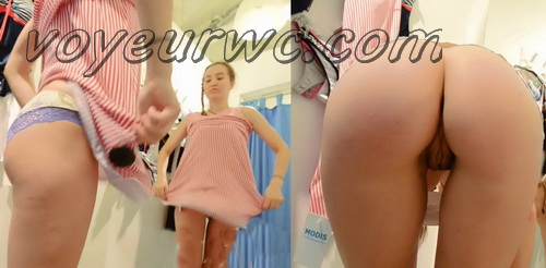 SpyCam 2238-2249 (Shopping Mall changing room. Hidden cam - pretty girls dress up)