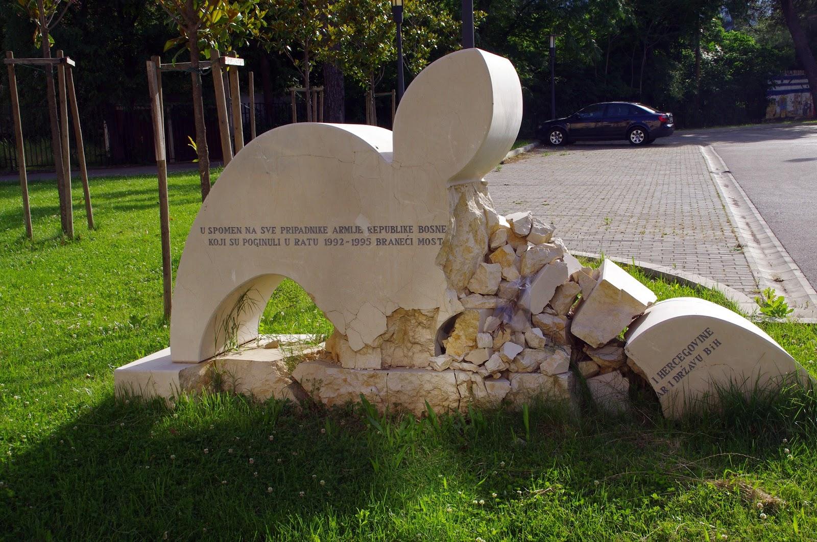 Damaged sign Mostar