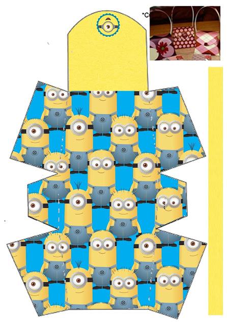 Cumpleaños de Minions: Bolsos para Imprimir Gratis.