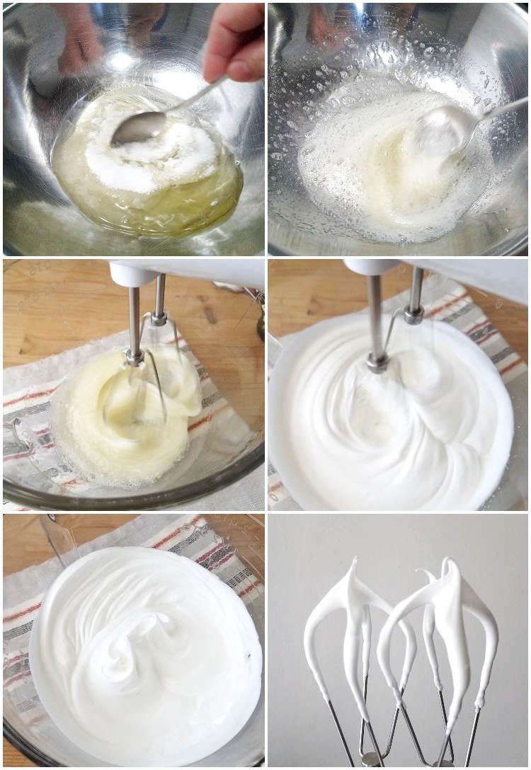Cómo hacer merengue suizo con mitad de azúcar
