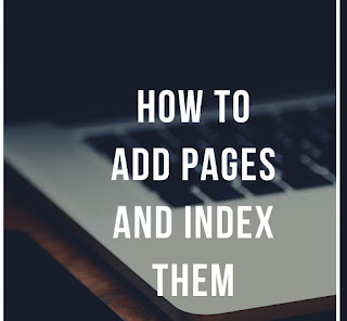 Add Pages and index them