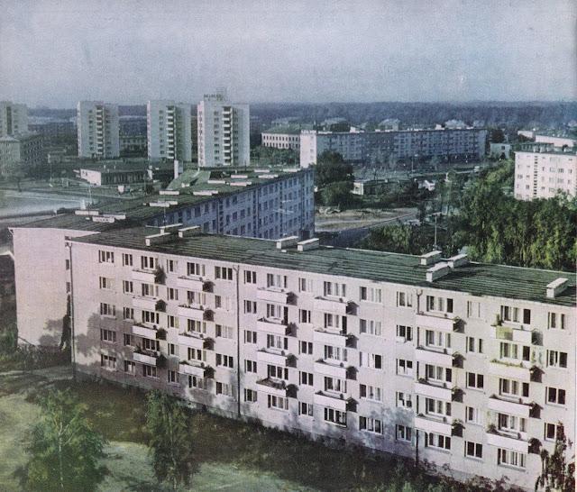 "Конец 1960-х - начало 1970-х годов. Рига. Югла (снимок из фотоальбома ""Rīga"", изд-во ""Liesma"", 1971 г.)"