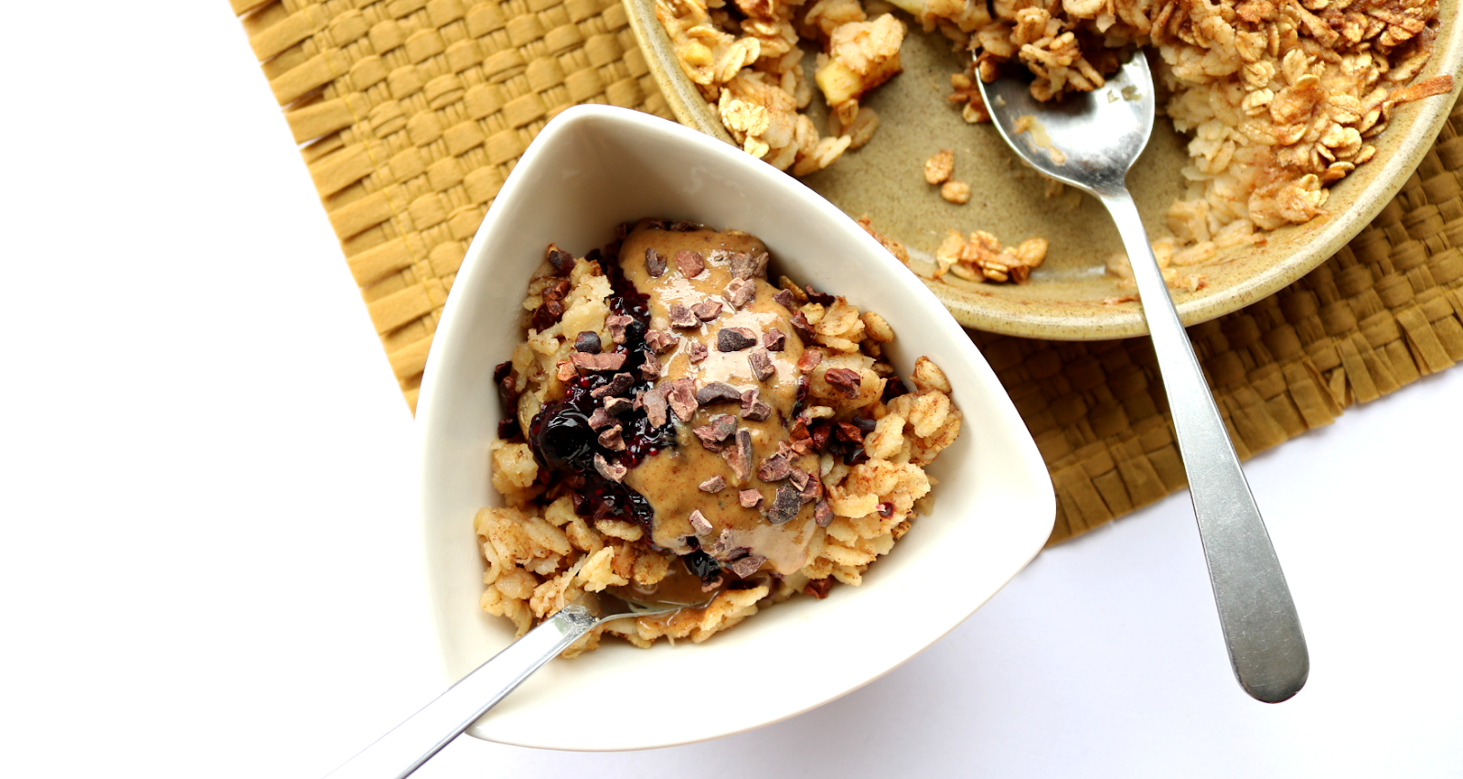 Baked Apple Pie Porridge Oats (Dairy-Free / Vegan recipe)