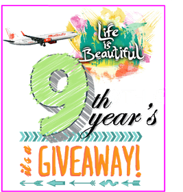 Life Is Beautiful 9th Years Giveaway
