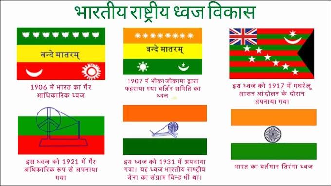 भारतीय राष्ट्रीय ध्वज तिरंगे का इतिहास और विकास