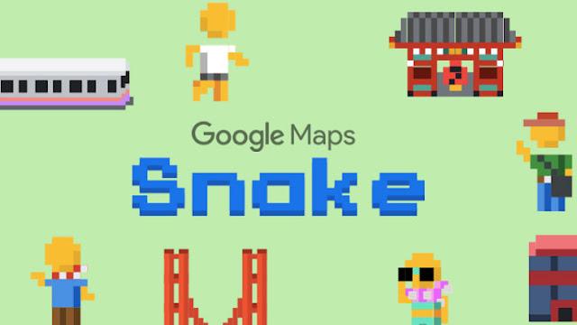 طريقة لعب Snake على خرائط جوجل