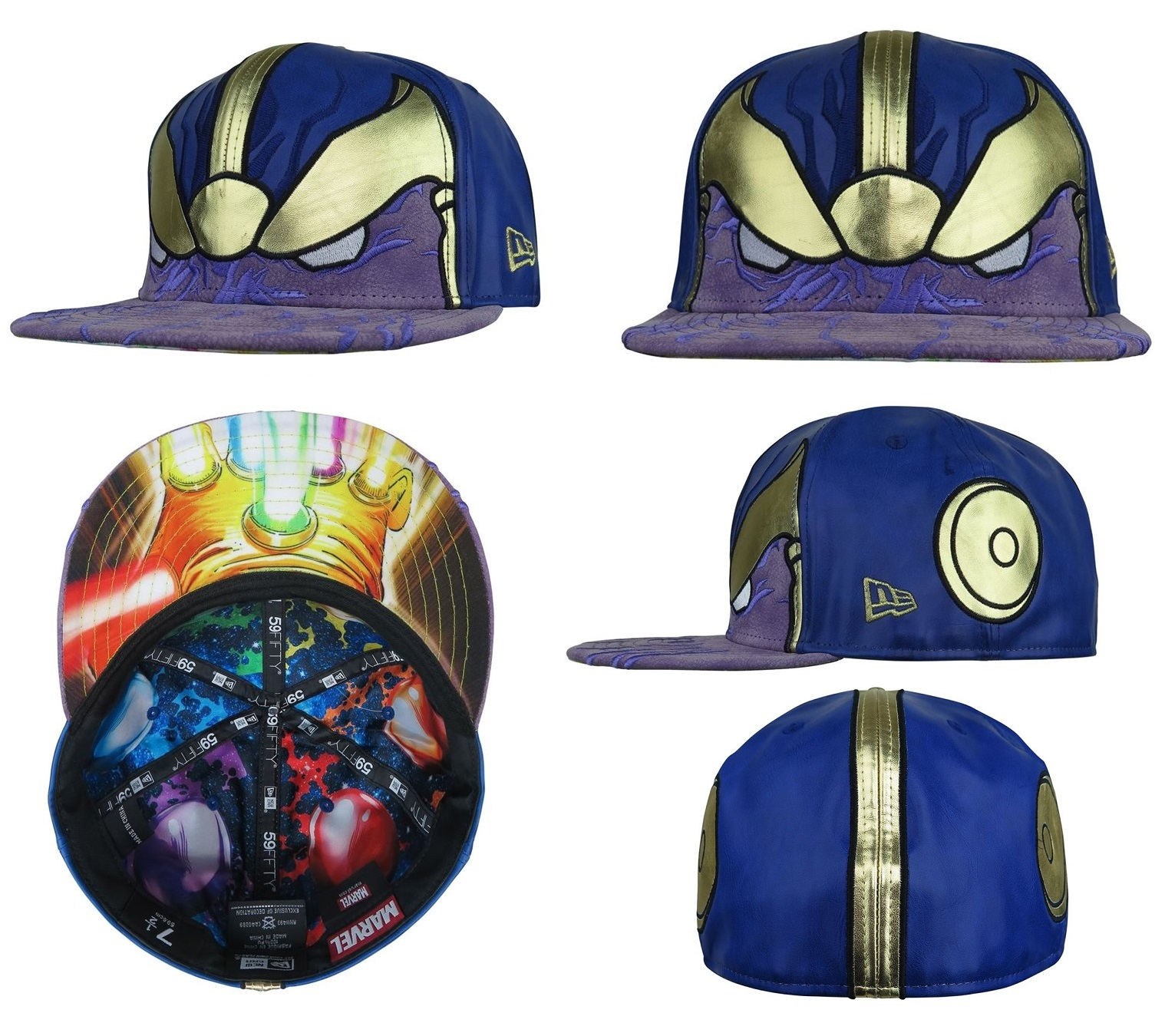 d6162964f6d57 Super Hero Stuff Exclusive Thanos Armor Marvel 59Fifty Fitted Hat by New  Era Cap