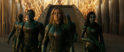Captain Marvel 2019 movie still Gemma Chan Djimon Hounsou