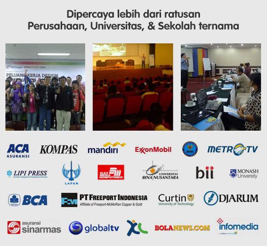 Dipercaya Lebih dari ratusan Perusahaan, Universitas, & Sekolah Ternama di Indonesia