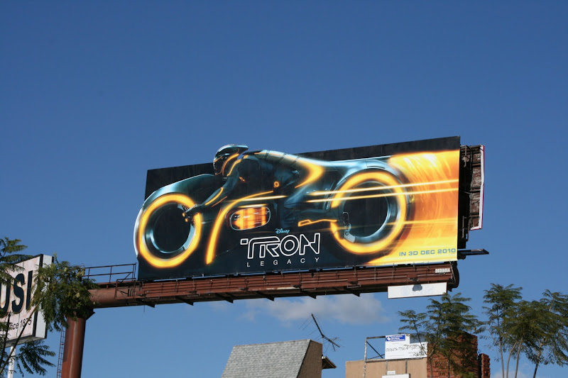 Tron Lightcycle billboard