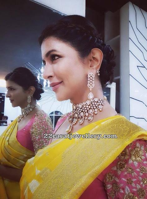 Lakshmi Manchu Diamond Choker