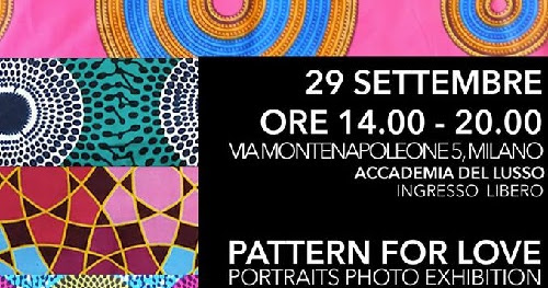 Pattern for Love - Portraits Photo Exhibition Sabato 29 settembre 2018 dalle 14 alle 20