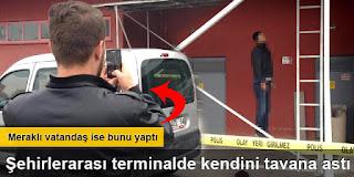 konyada Şehirlerarası otobüs terminalinde intihar etti
