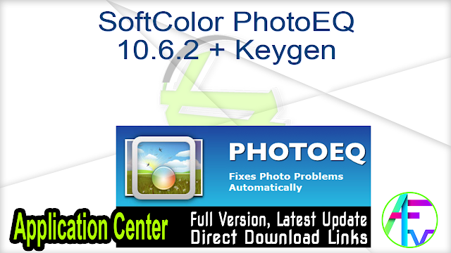 SoftColor PhotoEQ 10.6.2 + Keygen