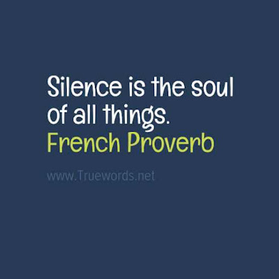 Silence is the soul of all things.