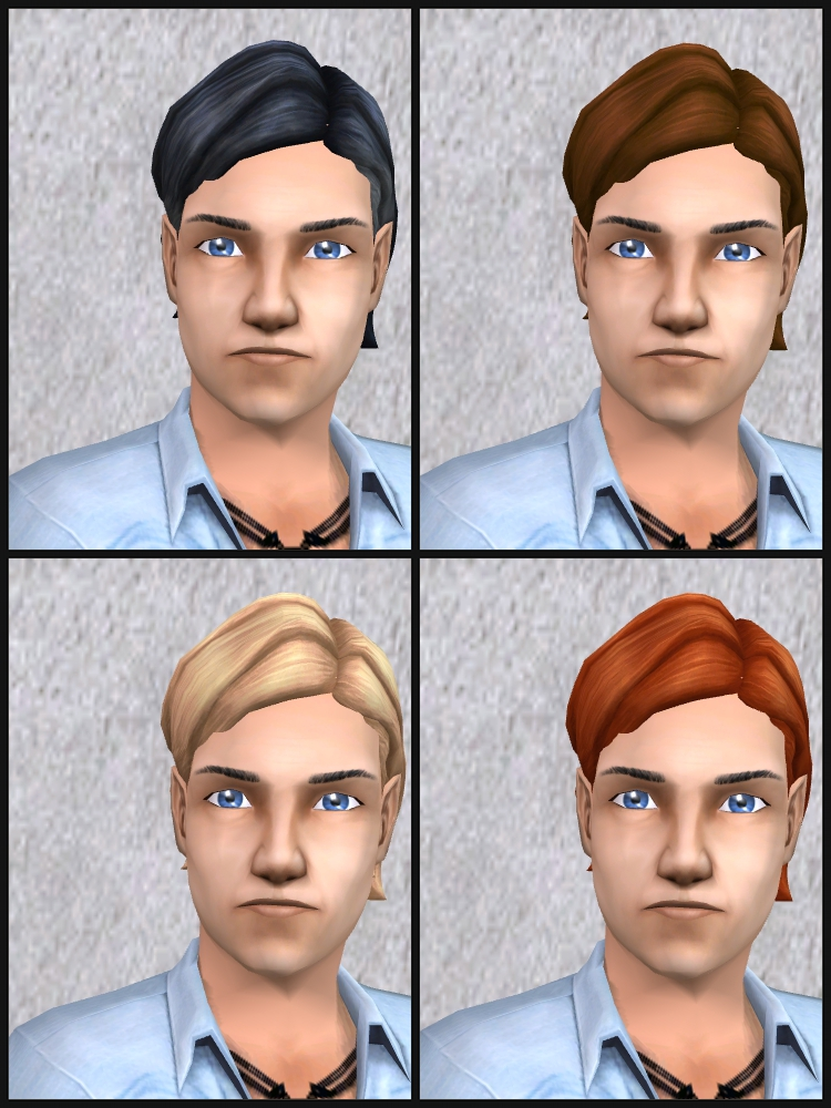 Theninthwavesims The Sims 2 The Sims 4 Am Medium Wavy Hair For The Sims 2