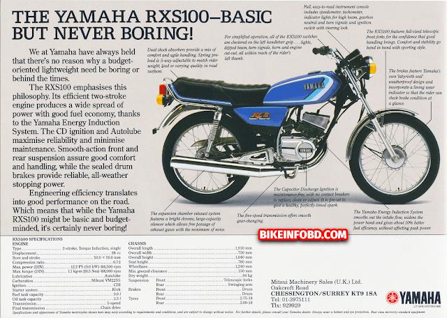 Yamaha RXS 100 Information