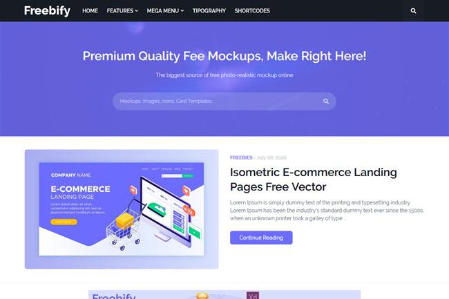 Freebify Template para Blogger, Modelo responsivo
