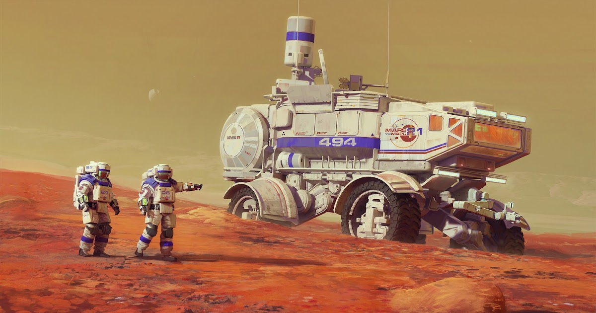 Mars exploration rover by Maciej Rebisz