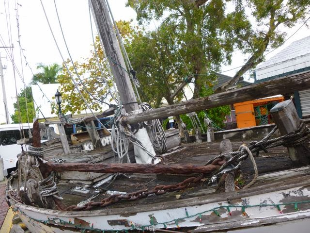 salvage boat replica seen sightseeing in florida keys
